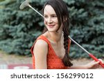 Active Living Young Woman With...
