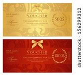 voucher  gift certificate ... | Shutterstock .eps vector #156299312