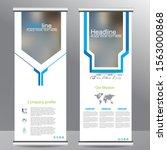 blue roll up business brochure... | Shutterstock .eps vector #1563000868