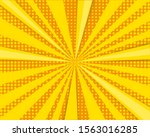 orange and yellow comic... | Shutterstock . vector #1563016285