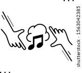 music cloud line art icon   Shutterstock .eps vector #1563042385