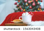 christmas cocoa with... | Shutterstock . vector #1563043408