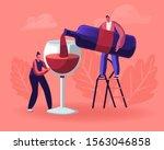 Wine Degustation. Man Pouring...