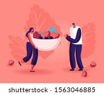 healthy eating  cooking... | Shutterstock .eps vector #1563046885