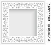 square photo frame with ornate... | Shutterstock .eps vector #1563062062