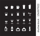 drink icons set | Shutterstock .eps vector #156307022