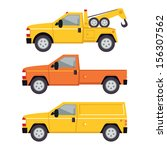 truck illustration   flat style | Shutterstock .eps vector #156307562