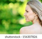 closeup portrait of beautiful...   Shutterstock . vector #156307826
