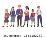 school kids collection. group... | Shutterstock .eps vector #1563102292