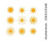 sun and sunrays various vector...   Shutterstock .eps vector #1563115168