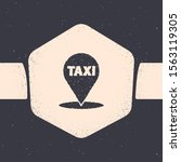 grunge map pointer with taxi... | Shutterstock .eps vector #1563119305