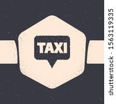 grunge map pointer with taxi... | Shutterstock .eps vector #1563119335