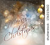 merry christmas card or... | Shutterstock .eps vector #156315632