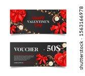 valentine's day sale gift...   Shutterstock .eps vector #1563166978
