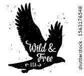 bald eagle silhouette and... | Shutterstock .eps vector #1563176548