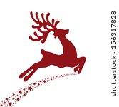 Red Reindeer Flying Stars