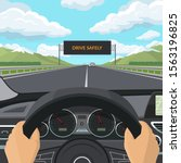 drive safely concept. car drive ...   Shutterstock .eps vector #1563196825