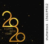happy 2020 new year golden... | Shutterstock .eps vector #1563199312