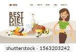 diet for weight loss  website... | Shutterstock .eps vector #1563203242