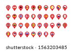 set flags of europe location... | Shutterstock .eps vector #1563203485