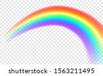 rainbow icon. realistic arch... | Shutterstock .eps vector #1563211495