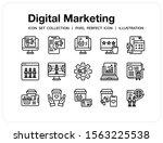 digital marketing icons set. ui ...