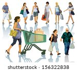 set of people silhouettes.... | Shutterstock .eps vector #156322838