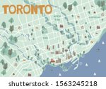 guide to toronto. illustrated... | Shutterstock .eps vector #1563245218