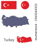 turkey silhouette and flag... | Shutterstock .eps vector #1563264322