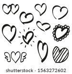heart on isolated white... | Shutterstock . vector #1563272602