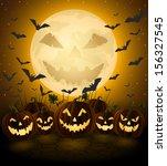 spooky halloween night  holiday ... | Shutterstock .eps vector #156327545