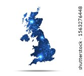 vector map of britain with... | Shutterstock .eps vector #1563276448