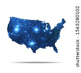 vector map of usa with... | Shutterstock .eps vector #1563280102