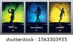 set of tennis championship... | Shutterstock .eps vector #1563303955