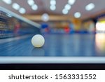 Ball On Table Tennis Sport Or...