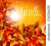 gentle autumn. vintage card on... | Shutterstock .eps vector #156336635