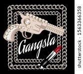 gangsta. vector hand drawn...   Shutterstock .eps vector #1563366358