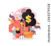 huge piggy bank  micro business ...   Shutterstock .eps vector #1563379318