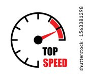 icon top speedometer mileage... | Shutterstock .eps vector #1563381298
