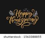 hand drawn thanksgiving... | Shutterstock .eps vector #1563388855