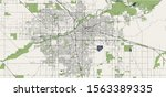 vector map of the city of... | Shutterstock .eps vector #1563389335