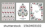 vector collection of greeting... | Shutterstock .eps vector #1563403102