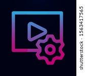 video edit nolan icon. simple...