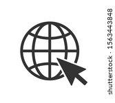 website icon. vector www icon | Shutterstock .eps vector #1563443848