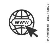 website icon. vector www icon