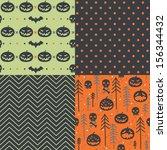 vector set of four halloween... | Shutterstock .eps vector #156344432