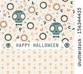 vector set of two halloween... | Shutterstock .eps vector #156344435