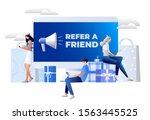 refer a friend concept. friend...