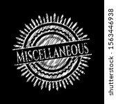 miscellaneous on blackboard....   Shutterstock .eps vector #1563446938