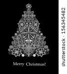 christmas tree. christmas card. | Shutterstock . vector #156345482
